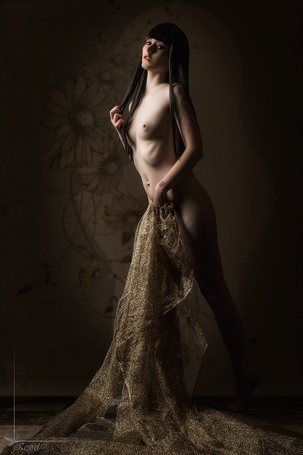 Model's First Nude. Artistic Nude Photo by Photographer Kestrel