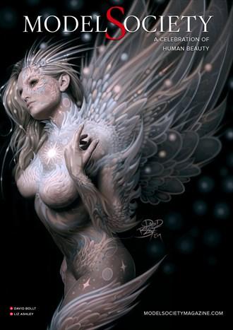 Model Society Magazine   4 (Model Liz Ashley) Fantasy Artwork by Administrator Model Society Admin