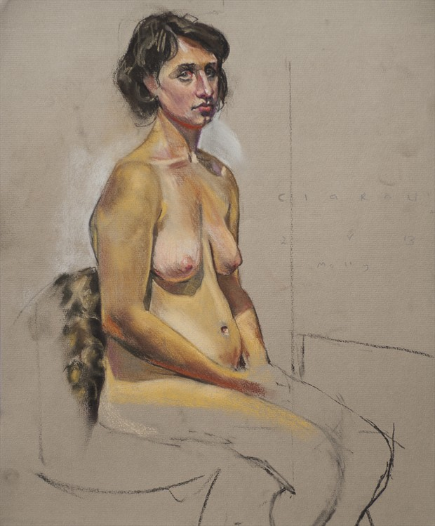 Molly and the leopard skin Artistic Nude Artwork by Artist Ciaran Taylor
