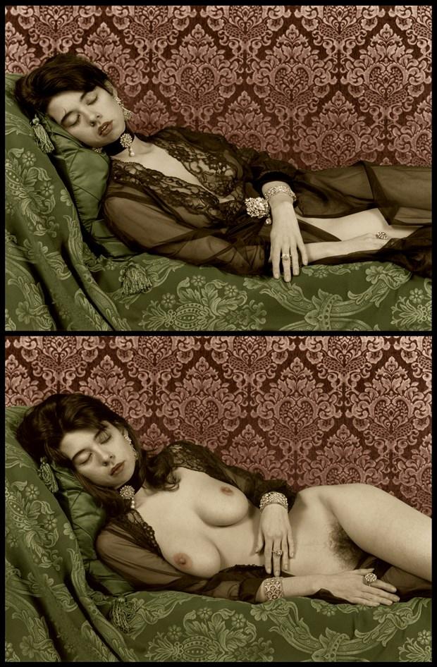 Momento Mori Portrait Diptych Artistic Nude Artwork by Photographer Michael J Berkowitz
