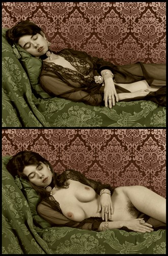 Momento Mori Portrait Diptych Artistic Nude Artwork by Photographer Michael J Berkowitz