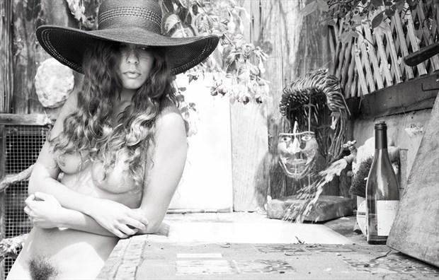 Monique's Hat on Wildcat Hill  Artistic Nude Photo by Photographer lancepatrickimages