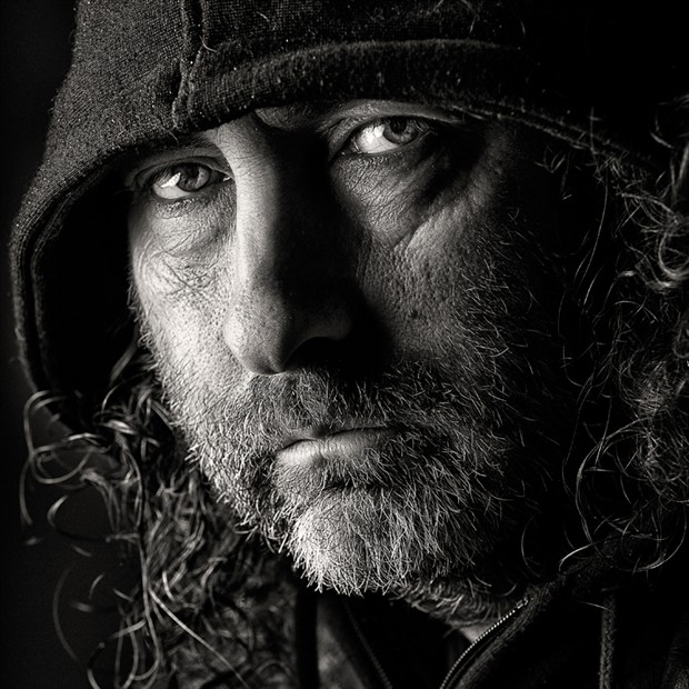Moody Hoody Portrait Photo by Photographer Rossomck