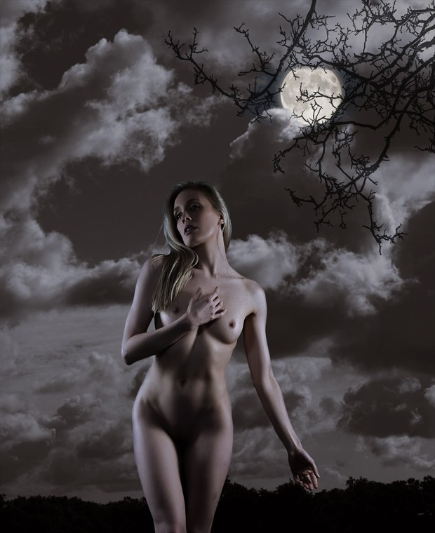 Moonlight Artistic Nude Photo by Photographer Ray Kirby