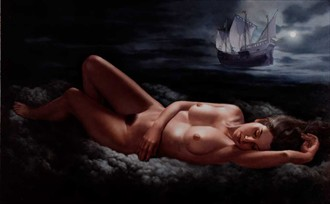 Moonlight dream Artistic Nude Artwork by Artist Bruno Di Maio