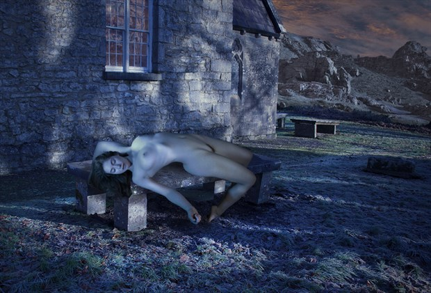 Moonlight in the churchyard Artistic Nude Photo by Photographer Douglas Ross