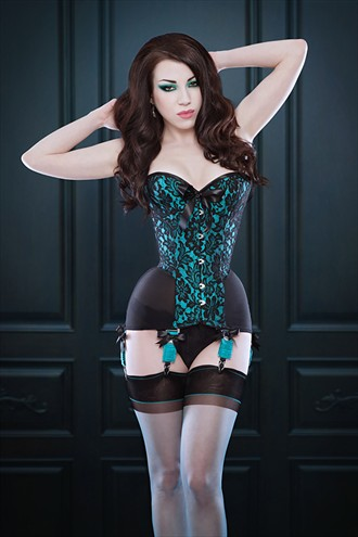 Morgana Femme Couture mesh corset Lingerie Photo by Model Morgana