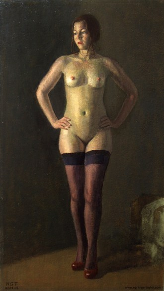 Morning Artistic Nude Artwork by Artist Nicolas Granger Taylor