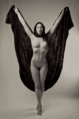 Moroccan cape Artistic Nude Photo by Photographer Micky Thompson