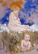 Motherhood Artistic Nude Artwork by Artist Bruno Di Maio