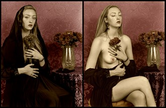Mourning Portrait, I Artistic Nude Artwork by Photographer Michael J Berkowitz