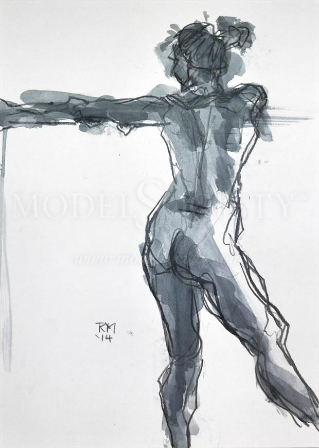 Move On Up Artistic Nude Artwork by Artist Rob MacGillivray