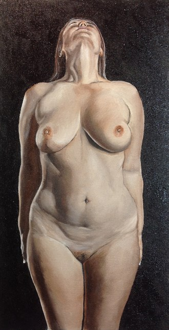 Ms. Lillias No.13 Artistic Nude Artwork by Artist Chuck Miller