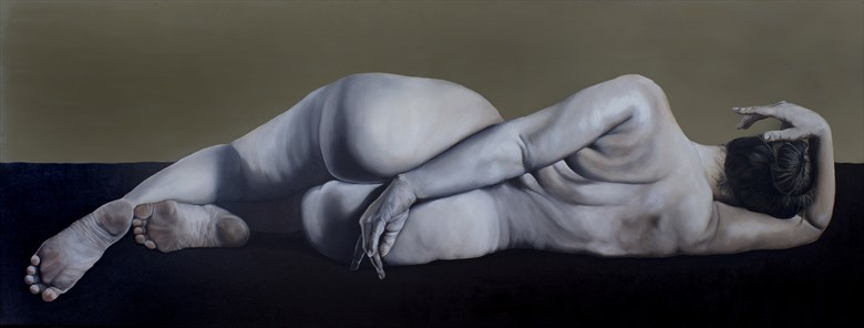 Ms. Lillias No.3 Artistic Nude Artwork by Artist Chuck Miller