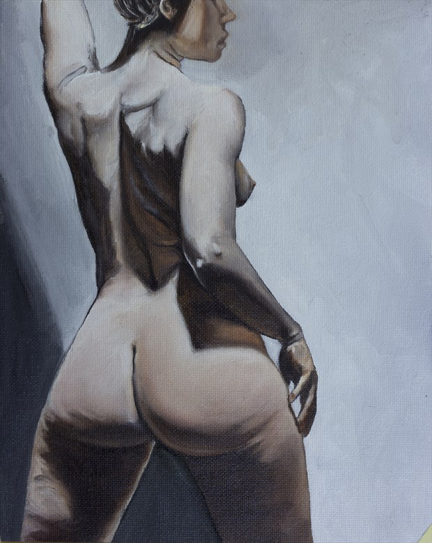 Ms. Rebecca No.1 Artistic Nude Artwork by Artist Chuck Miller