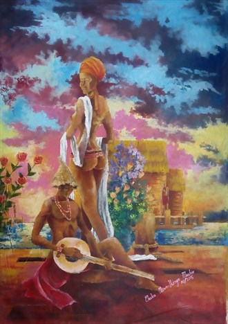 Mutual attraction 2 Artistic Nude Artwork by Artist Ikenga