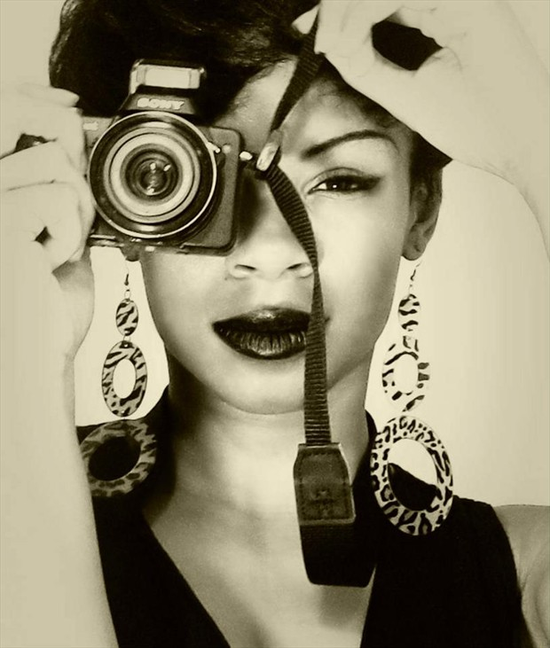My Third Eye Self Portrait Photo by Model Ms Muse