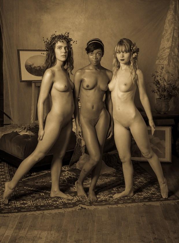 My Three Graces Artistic Nude Photo by Photographer Risen Phoenix