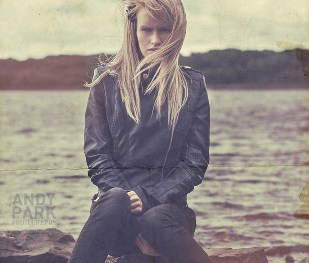 My heart out at sea, my head all over the place Vintage Style Photo by Model Amy Coco