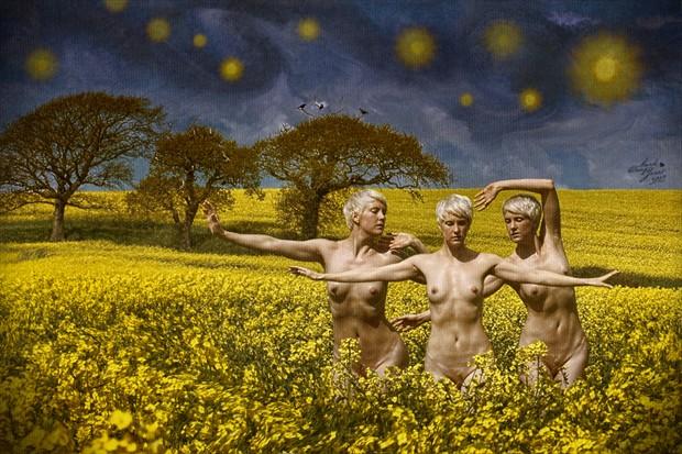 Mysterious Skies Artistic Nude Artwork by Photographer Mark Davy Jones