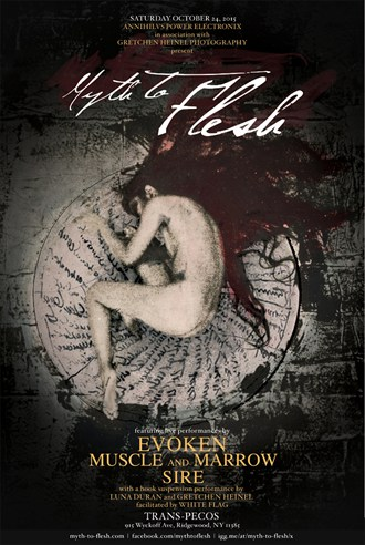 Myth to Flesh event poster Artistic Nude Artwork by Model Book of Luna