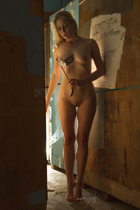 Nadia Warehouse Artistic Nude Photo by Photographer LensConcepts
