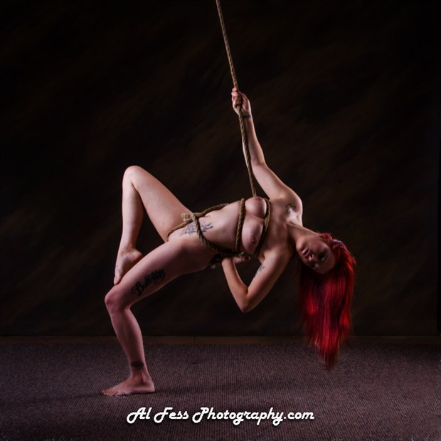 Naked with Rope Artistic Nude Photo by Model Margaret