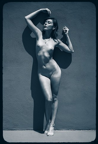 Nelle with wall Artistic Nude Photo by Photographer stephen ehre