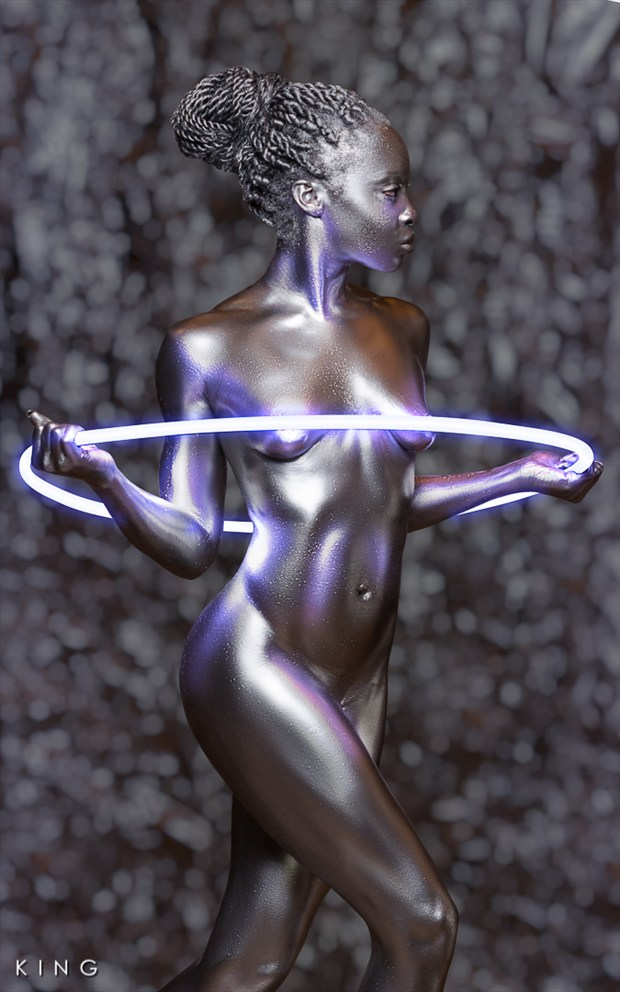 Neon Ring 1 Artistic Nude Photo by Photographer Terry King