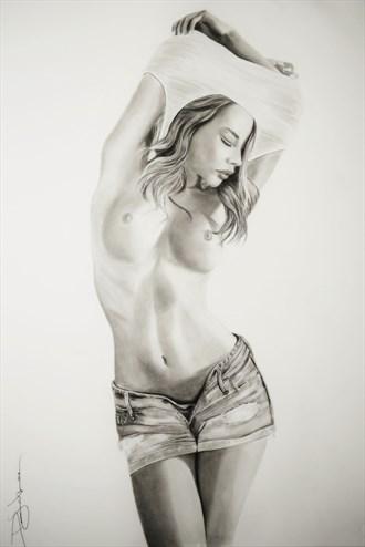 Nici Artistic Nude Artwork by Artist DML ART
