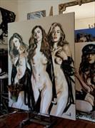 Nicole Artistic Nude Artwork by Artist Michel Canetti
