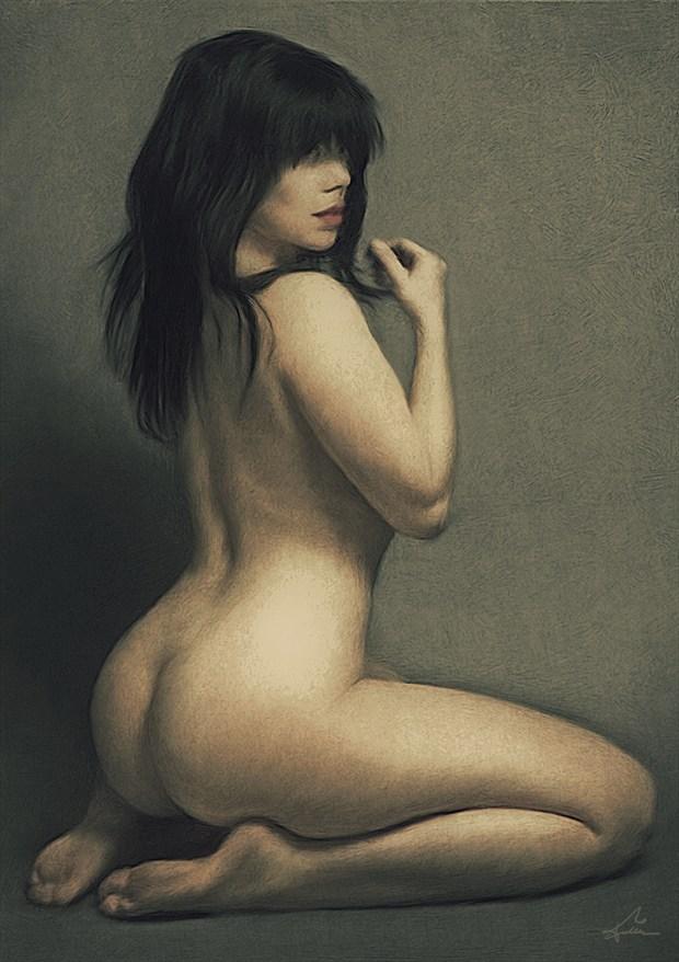 Nicole Artistic Nude Artwork by Artist Van Evan Fuller