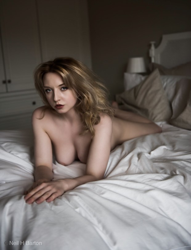 Nicole Bedroom Portrait  Artistic Nude Photo by Photographer NeilH
