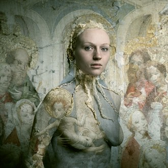 Nicole: After the Master of St. Veronica Artistic Nude Artwork by Photographer Bear Kirkpatrick