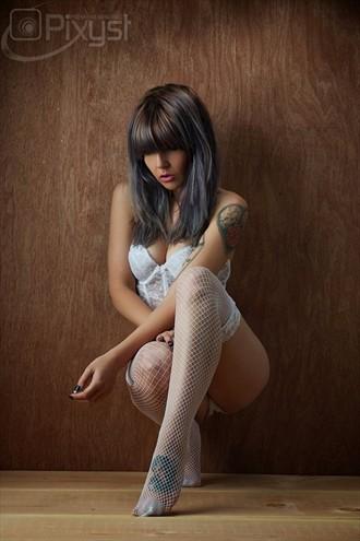 Nights in White Satin Sensual Photo by Model Plush