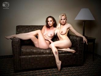 Nikki Marie (dark) & Masha Poses (blond), Sebring, FL, 2018 06 08 Artistic Nude Photo by Photographer jshfotos
