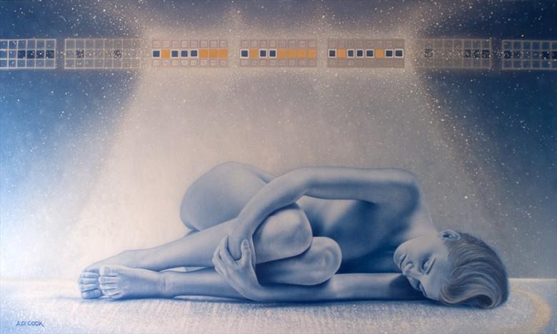 Nirvana Artistic Nude Artwork by Artist A.D. Cook