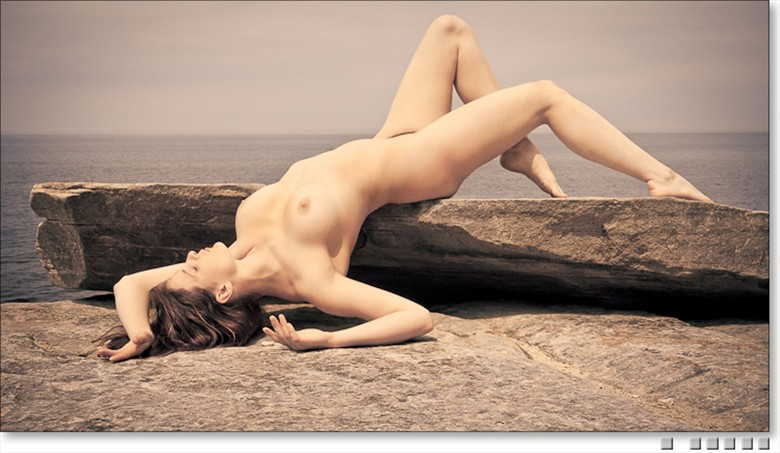 No horizon is so far that it is above us or beyond us. Artistic Nude Photo by Model Mila