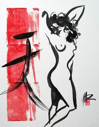 Nude 5 Artistic Nude Artwork by Artist Rael
