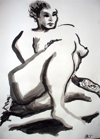 Nude 6 Artistic Nude Artwork by Artist Rael