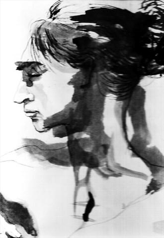 Nude 7 Figure Study Artwork by Artist Rael
