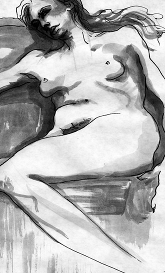 Nude 9 Artistic Nude Artwork by Artist Rael