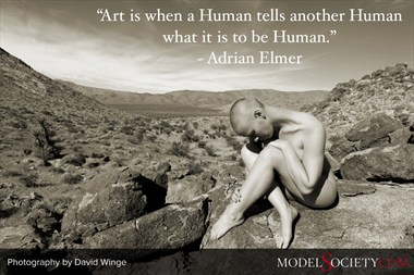 Nude Model Photography by David Winge with Quote by Adrian Elmer Artistic Nude Photo by Administrator Model Society Admin