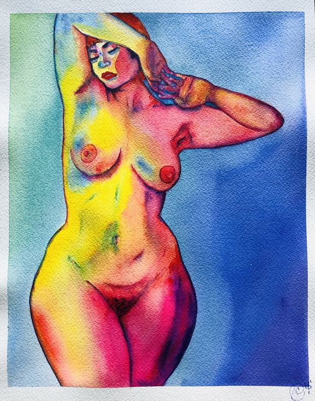 Nude No. 7 Artistic Nude Artwork by Artist jennchurch