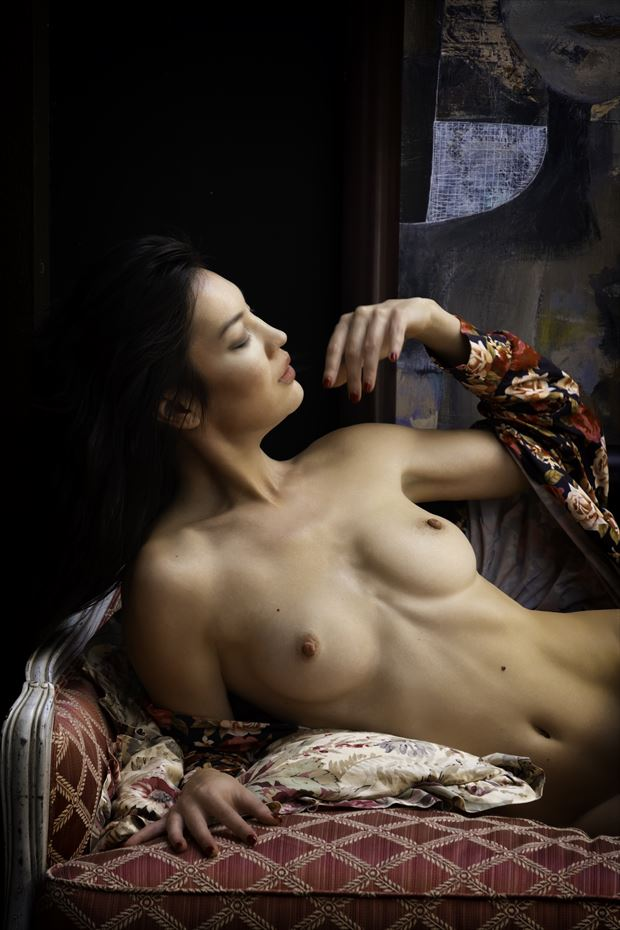 Nude Portrait Beneath a Painting Artistic Nude Photo by Photographer Philip Turner
