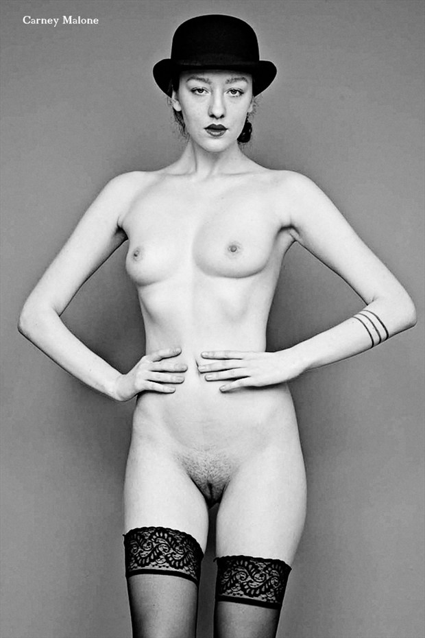Nude Wearing Bowler Erotic Photo by Photographer Carney Malone
