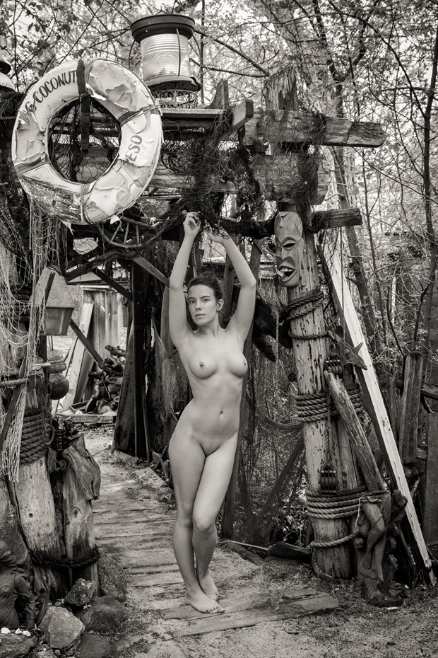 Nude Woman Entrance to Fernando's Hide a way Artistic Nude Photo by Photographer Risen Phoenix