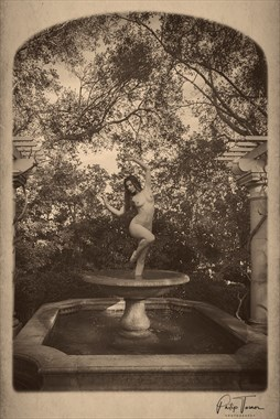 Nude as Fountain Centerpiece Artistic Nude Photo by Photographer Philip Turner