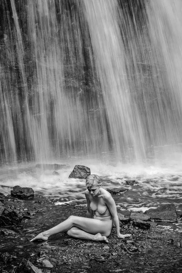 Nude at Cascade Falls Artistic Nude Photo by Photographer Risen Phoenix