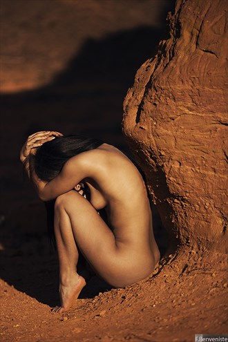 Nude in Ocre Artistic Nude Photo by Photographer Francois Benveniste